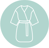 An icon of a robe